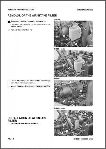 Komatsu SK818-5, SK820-5 turbo Skid Steer Loader Service Manual CD