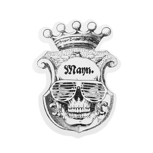 Mann Skull Custom Stickers | Die Cut Stickers No Minimum | GS-JJ.com ™