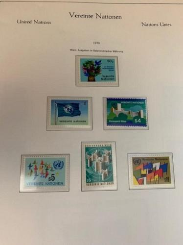 United Nations Wien Definitives 1979 mnh