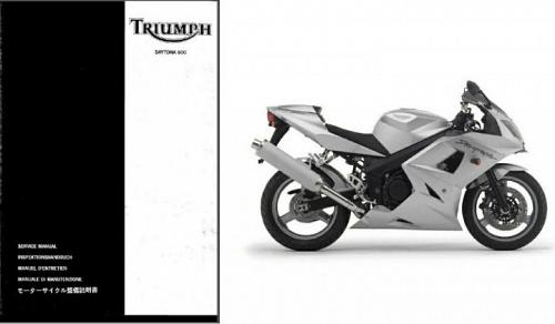 2003-2004 Triumph Daytona 600 Service Workshop Manual on a CD