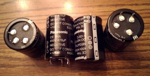 Lots of 4: Panasonic ECE-T2WA471EA 470uF Snap-In Capacitors :: FREE Shipping