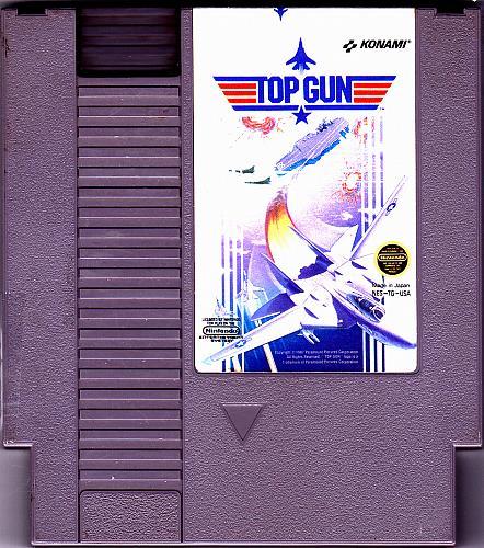Top Gun - Nintendo NES 1987 Video Game - Good