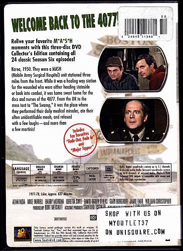 MASH - Season 6 Collector's Edition DVD 2004, 3-Disc Set - Very Good