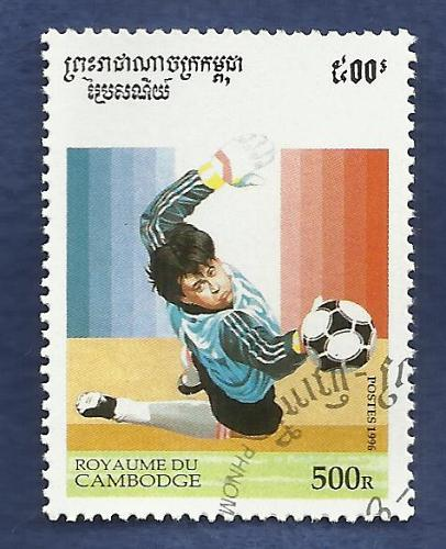 CAMBODIA 1996 OLYMPHILEX'96 SET Of THREE STAMPS + BONUS 1996 World Soccer Stamps