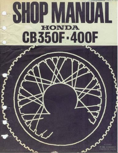 Honda CB350F / CB400F Service Repair Shop Manual on a CD