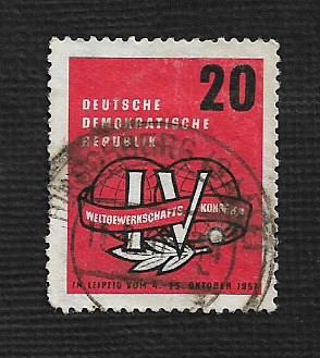 Germany DDR Used Scott #364 Catalog Value $.25