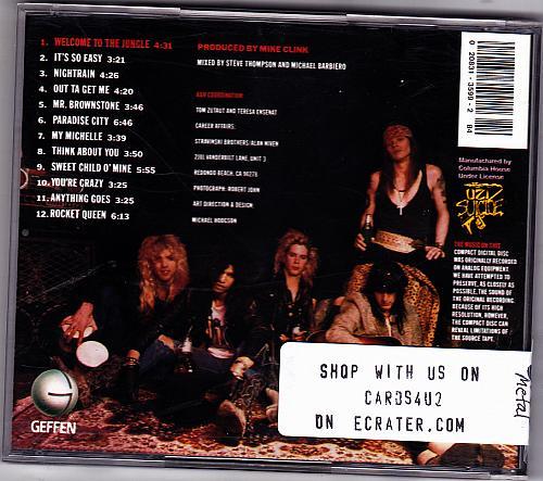 Appetite for Destruction by Guns N' Roses CD 1990 - Very Good