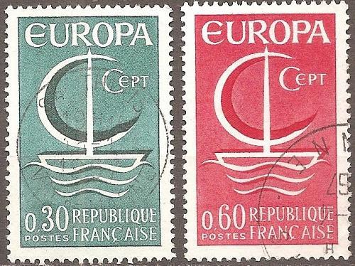 [FR1163] France: Sc. no. 1163-1165 (1966) Used Complete Set