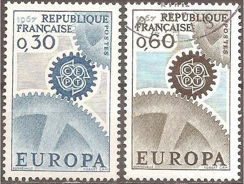 [FR1178] France: Sc. no. 1178-1179 (1967) Used Complete Set
