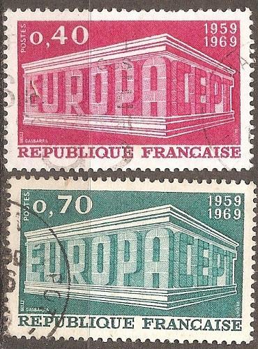 [FR1245] France: Sc. no. 1245-1246 (1969) Used Complete Set