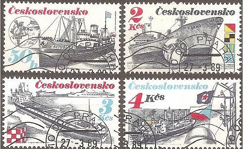 [CZ2736] Czechoslovakia: Sc. no. 2736, 2738-2740 (1989) CTO