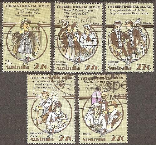 [AU0881] Australia: Sc. no. 881a-881e (1983) Used Complete Set