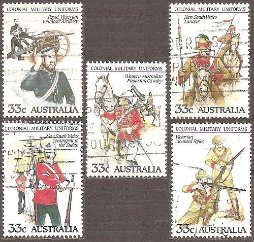 [AU0945] Australia: Sc. no. 945a-945e (1985) used complete set