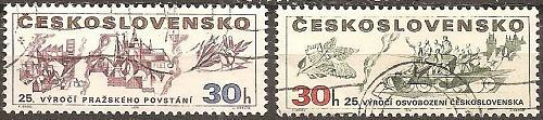 [CZ1687] Czechoslovakia: Sc. no. 1687-1688 (1970) CTO