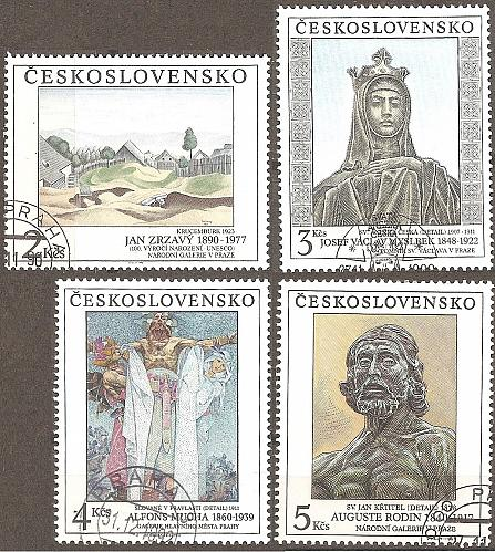 [CZ2810] Czechoslovakia: Sc. no. 2810-2813 (1990) CTO Complete Set