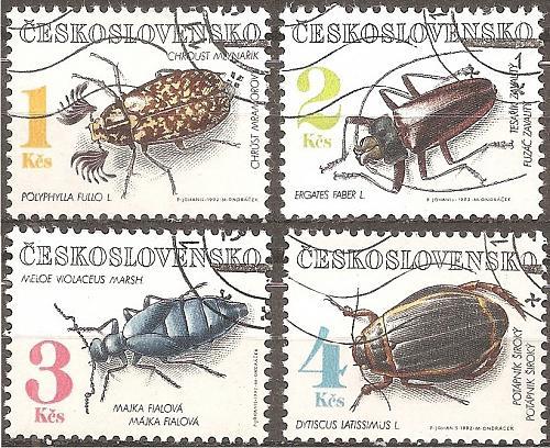 [CZ2863] Czechoslovakia: Sc. no. 2863-2866 (1992) Used Complete Set