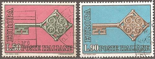 [IT0979] Italy: Sc. no. 979-980 (1968) Used Complete Set