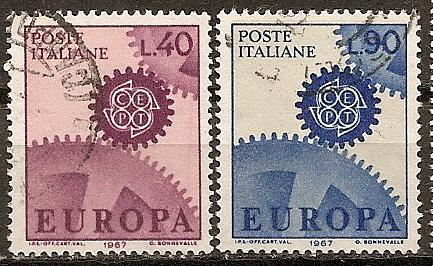 [IT0951] Italy: Sc. no. 951-952 (1967) Used Complete Set