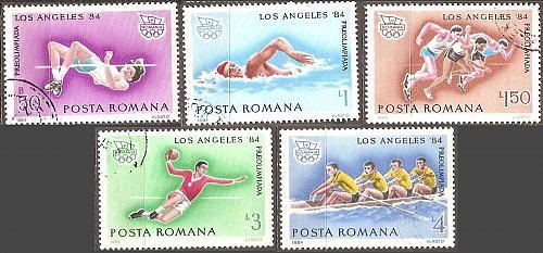 [RO3184] Romania: Sc. no. 3184-3188 (1984) CTO