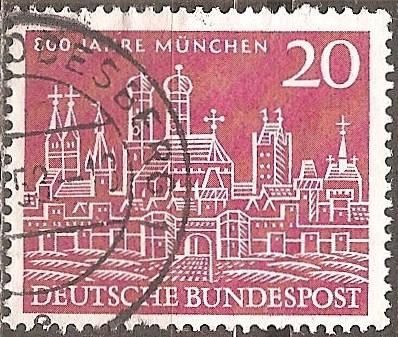 Germany: Sc. No. 0785 (1958) Used Single