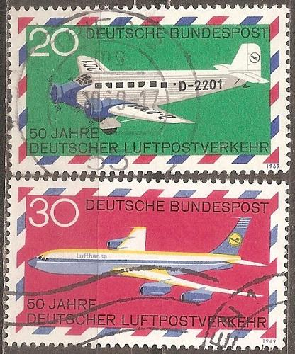 [GE0993] Germany: Sc. No. 993-994 (1969) Used Complete Set