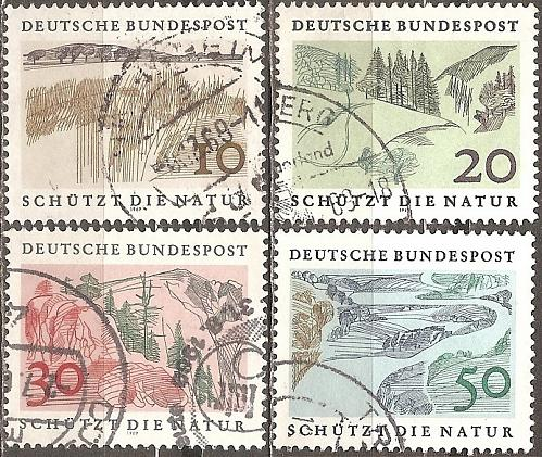 [GE1000] Germany: Sc. No. 1000-1003 (1959) Used Complete Set