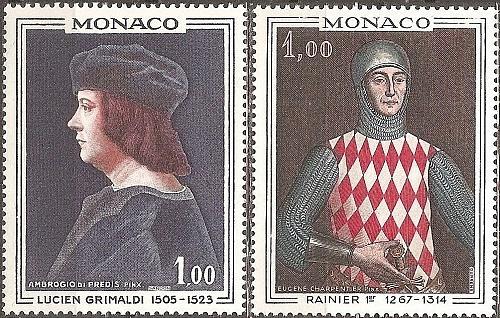 [MO0674] Monaco: Sc. no. 674-675 (1967) MNH Full Set