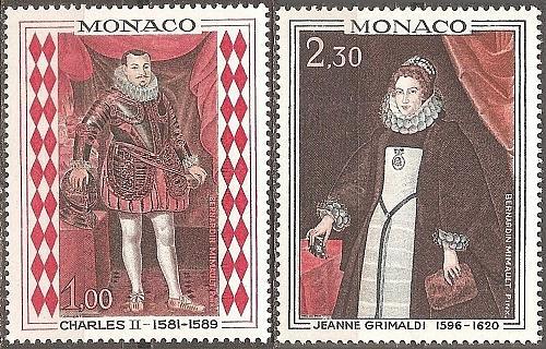 Monaco: Sc. no. 710-711 (1968) MNH Full Set