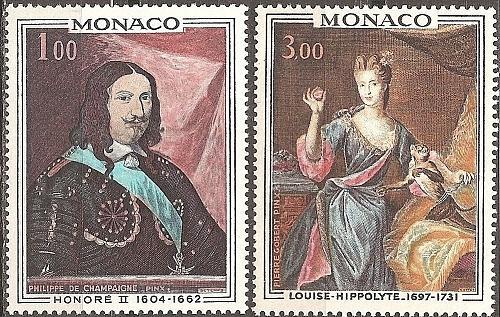 [MO0735] Monaco: Sc. no. 735-736 (1969) MNH Full Set