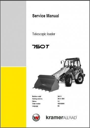 Wacker Neuson 750T Telescopic Loader Service Repair Manual CD -- 750 T
