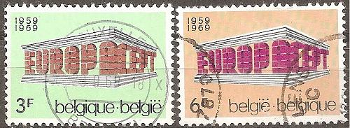 Belgium: Sc. no. 0718-0719 (1969) Used Complete Set