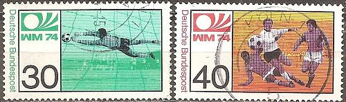 [GE1146] Germany: Sc. No. 1146-1147 (1974) Used Complete Set