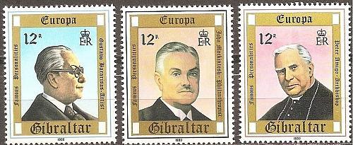 [GI0390] Gibraltar: Sc. no. 390-392 (1980) MNH Complete Set
