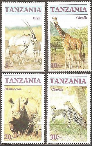 [TZ0319] Tanzania: Sc. no. 319-322 (1986) MNH Complete Set