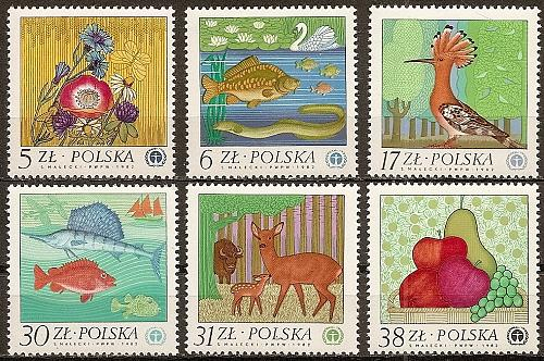 [PO2556] Poland: Sc. no. 2556-2561 (1980) MNH Complete Set