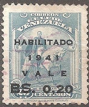 [VZ0375] Venezuela: Sc. no. 375 (1941) Used