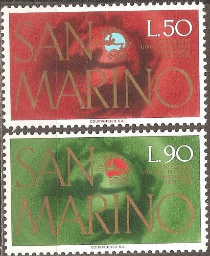 [SM0848] San Marino: Sc. no. 848-849 (1974) MNH Complete Set