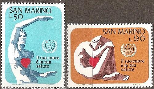 [SM0787] San Marino: Sc. no. 787-788 (1972) MNH Complete Set