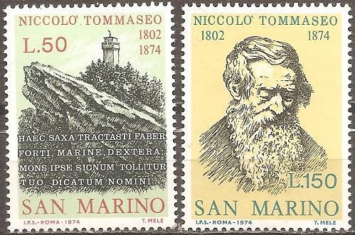 [SM0850] San Marino: Sc. no. 850-851 (1974) MNH Complete Set
