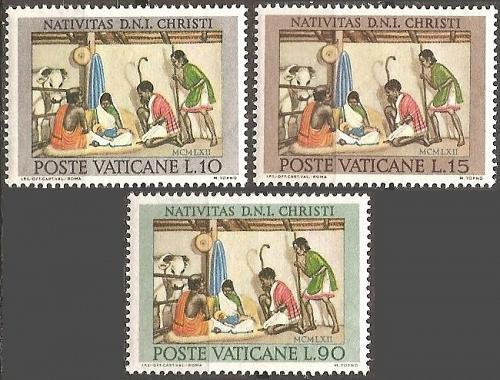 [VC0353] Vatican City: Sc. no. 353-355 (1962) MNH full set