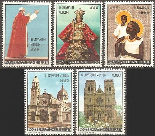 [VC0495] Vatican City: Sc. no. 495-499 (1970) MNH full set