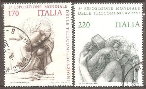 [IT1477] Italy: Sc. no. 1377-1378 (1979) Used Complete Set