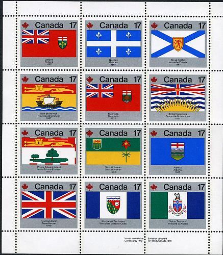 [CA0832] Canada: Sc. no. 832a (1977) MNH Miniature Sheet