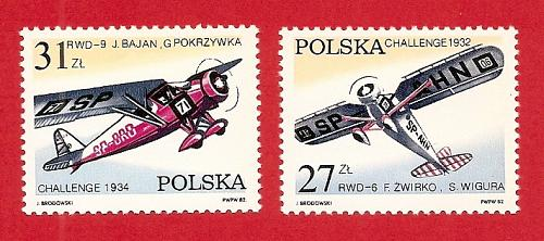 Poland: Sc. no. 2515-2516 (1982) MNH Complete Set