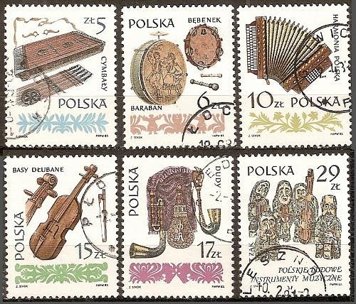 [PO2603] Poland: Sc. no. 2603-2608 (1984) CTO Complete Set
