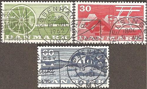 [DE0371] Denmark: Sc. no. 371-373 (1960) Used Complete Set
