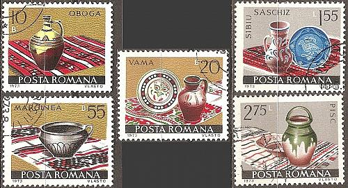 [RO2436] Romania: Sc. no. 2436-2440 (1973) CTO