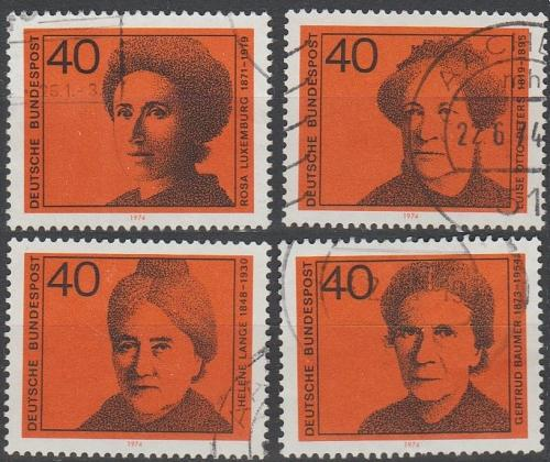 [GE1128] Germany: Sc. No. 1128-1131 (1974) Used Complete Set
