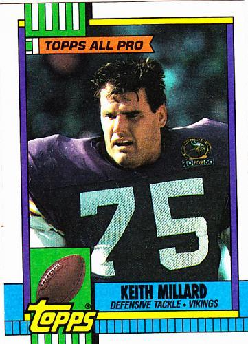 Keith Millard #109 - Vikings 1990 Topps Football Trading Card