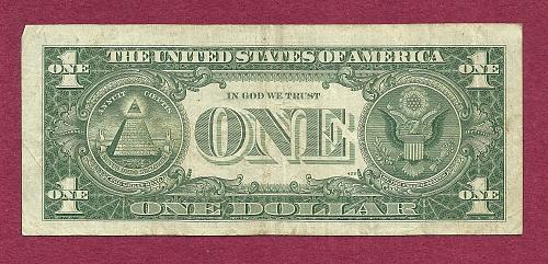 US 1957B $1 Dollar Banknote # V28003023A - SILVER CERTIFICATE !!! - Blue Seal